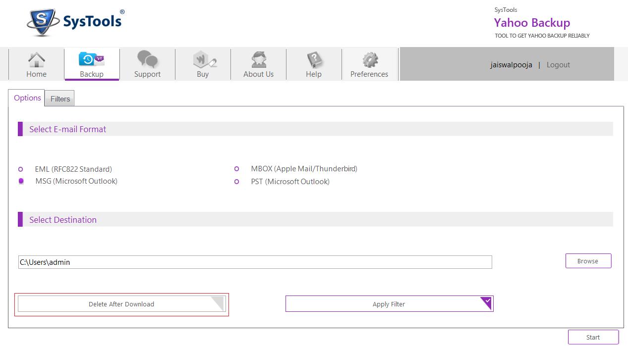 Yahoo Backup Tool – Download Yahoo Mailbox to Local Drive